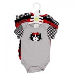 Baby Gear Body Suit on Hanger 4-pack - Asst