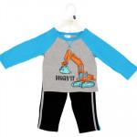 Infant Boys Blue 2-piece Pant Set - Asst sizes