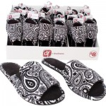 Dear Foams Ladies' Paisley Open-Toe Slippers -Asst