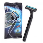 Dorco Razor with Lubricating Strip 5-pack