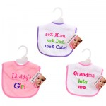 Baby Essentials Bib with Embroidered Text - Asst