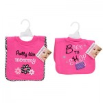 Baby Essentials Pull-Over Dark Pink Bib - Asst