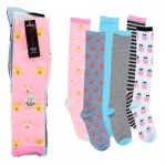 SOCKS 4pkLADIES MOD KNEE HIGH
