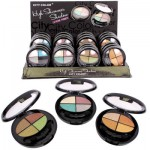 City Color Shimmer Eye Shadow Quad Palette - Asst