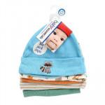 BABY CAPS 5pk0-6mos BOY'S 4AST