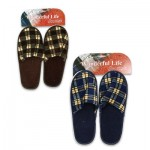 Men's Plaid Slippers - 2 Astd.colors  Sizes S-L