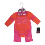 RBX Girls Newborn Coral Pant Set with Shoes - Asst