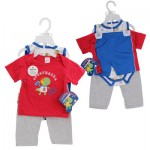 PANT/SHORT SET 4pc DINO SPORTS