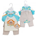 PANT/SHORT SET 4pc MONKEY BOYS