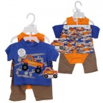 PANT/SHORT SET 4pc TRUCK BOYS