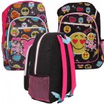Emoji Backpack with 2 Front Pockets - Asst  17