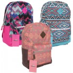 Women's Backpack with Prints - Asst  17.5