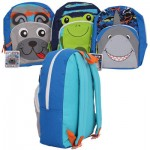 Critter Face Backpack with Front Pocket-Asst  14