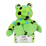 PLUSH GREEN POLKA DOT FROG
