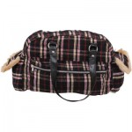 HANDBAG  PLAID CANVAS
