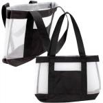 Black 2-Tone Mesh Tote Bag - 17