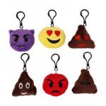 Plush Emoji Keychain - Asst