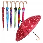 Umbrella with Hook Handle - Asst  26.6