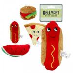 KellyPet Plush Summer BBQ with Squeaker - Asst