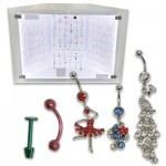 Assorted 162-piece Body and Belly Jewelry Display