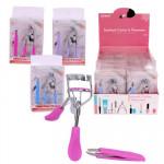Eyelash Curler and Tweezers Set - Asst