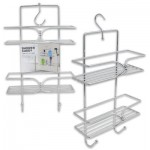 2-Tier Shower Caddy with 2 Hooks - Metal  18