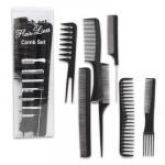 Hair Lines 7-piece Comb Set - Black