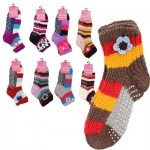 Knitted Ladies' Room Socks - Asst