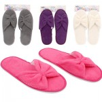 Bath Essentials Solid Colored Slippers - Assorted