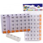Plastic 7-Day Planner Pill Box - 8.25