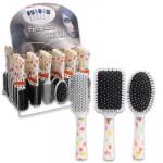Polka Dot Fashion Hair Brush in Display Box - Asst