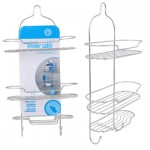 Luxury Chrome 3-Tier Shower Caddy - 20.5