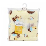 Little Beginnings Noah's Ark Yellow Baby Blanket