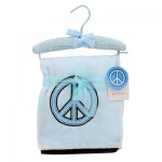 Blue Blanket with Peace Sin on Hanger