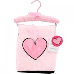 Pink Blanket with Satin Heart on Hanger