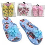 Girls' High Wedge Flip Flops - Asst