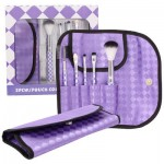 5-piece Deluxe Brush Set with Chic Bag