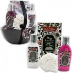Ceramic Bathtub Shiraz Rose Noir Set