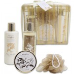 Organza Box Golden Vanilla Embers Bath Set