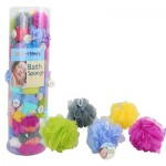 Nylon Bath Sponge Floor Display - Asst
