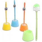 Toilet Brush w/Flower-Shaped Holder - Asst  14.5