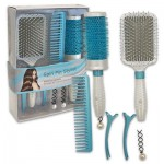 Blue Hair Brush 7-piece Set