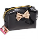 Cosmetic Bag with Gold Bow - 6.25