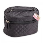 Black Cosmetic Bag with Handle - 4.75