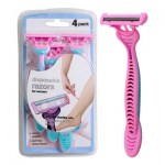 Disposable 3-Blade Razor 4-pack for Women - Pink