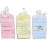 6pc Embroidered Baby Washcloth Set - 3 Astd.  9