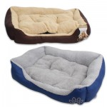 Fabric Pet Bed with Embroidered Paw - Asst  23.5