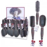 Red Specks Hair Brush Display - Assorted