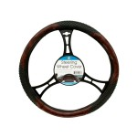 Textured Two-Tone Steering Wheel Cover