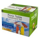 Picnic Table Condiment Holder Set